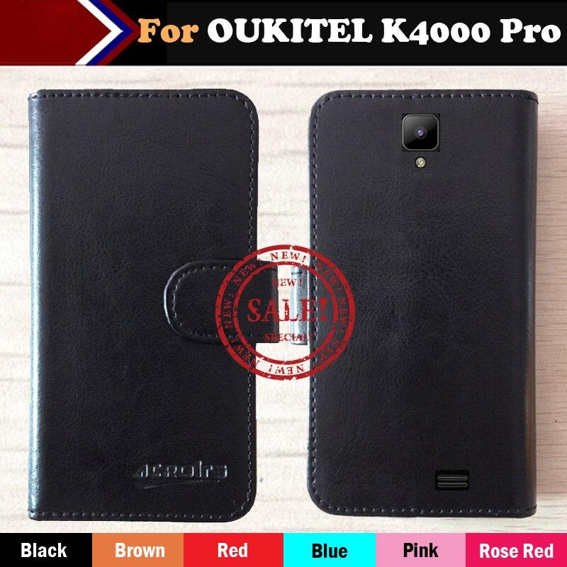 OUKITEL K4000 Pro Cas 5 Hot!! 2017 Ultra-mince Dédié En Cuir Exclusive Pour OUKITEL K4000 Pro Couverture de Téléphone 6 Couleurs + de Suivi