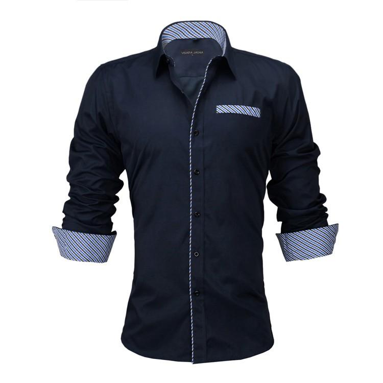HTB1o2eXKVXXXXcIaXXXq6xXFXXXh - New Arrivals Slim Fit Male Shirt Solid Long Sleeve British Style Cotton Men's Shirt N332