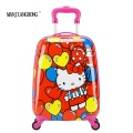 "16""New fashion Girls Cartoon Child Girl Princess Cat ABS trolley case,Children Luggage Suitcase/Spinner weels Children suitcase"