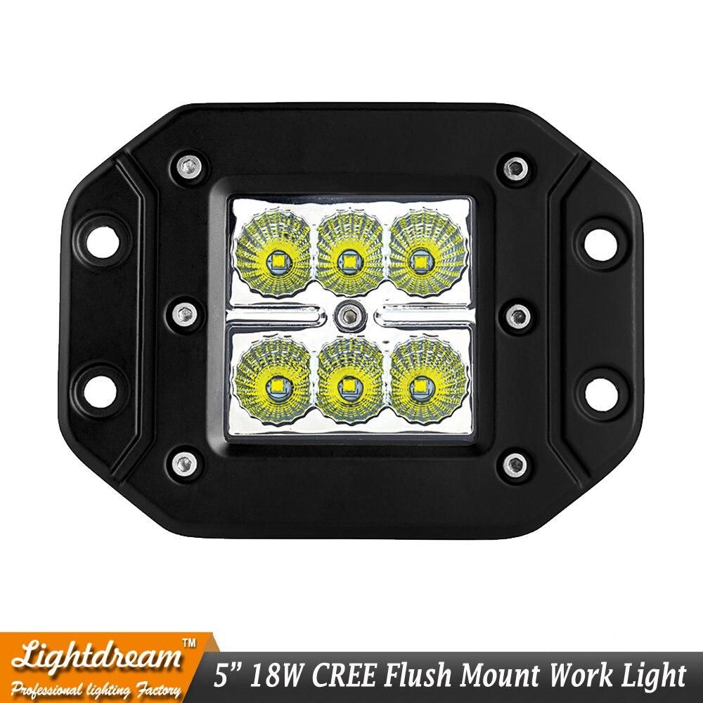 2pcs 18w Led Work Light Bar Fog Lamp For Offroad Suv Pickup Atv Utv Lights Wiring Harness 3x3 Inch Flush Mount 6pcs 12v Spot Flood Beam Cube Truck