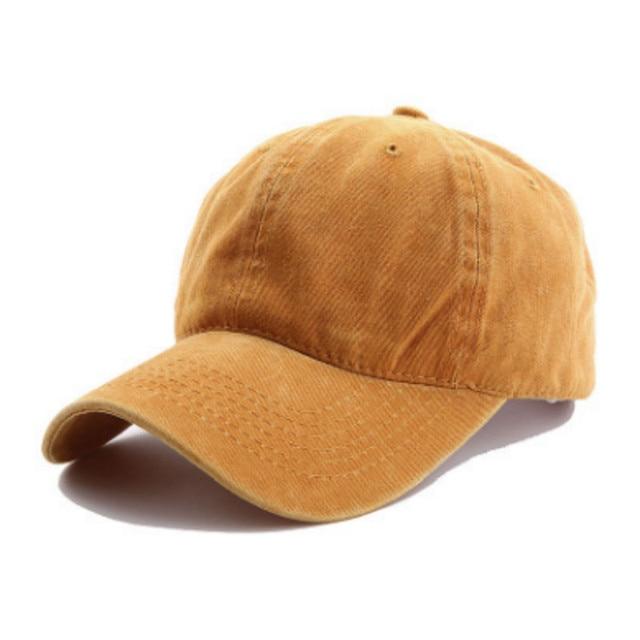 Washed Cotton Blank Baseball Hat Cap For Women Adjustable Solid Dad Hat Summer Curved Men Cap Outdoor Sports Hat Hip Hop Gorras