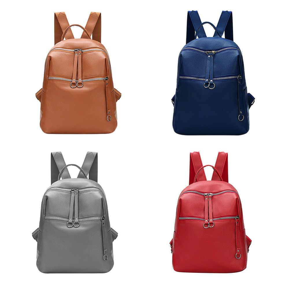 4c4c8b5076 ... Fashion Women Backpacks Soft PU Leather Backpack Shoulder Daypack Female  Rucksack Mochilas Mujer Casual School Bag ...
