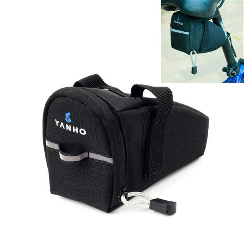 Waterproof Bicycle Saddle <font><b>Bags</b></font>,15cm*10cm*8cm Black Reflective Cycling Seat Tail <font><b>Bag</b></font>,Seatpost Pouch for <font><b>Bike</b></font> Outdoor Accessories image
