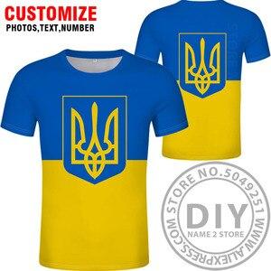 Image 5 - Футболка «сделай сам», «заказ», «имя», «ukr», «Национальный флаг», «Украина», «фото», «логотип», 3D принт