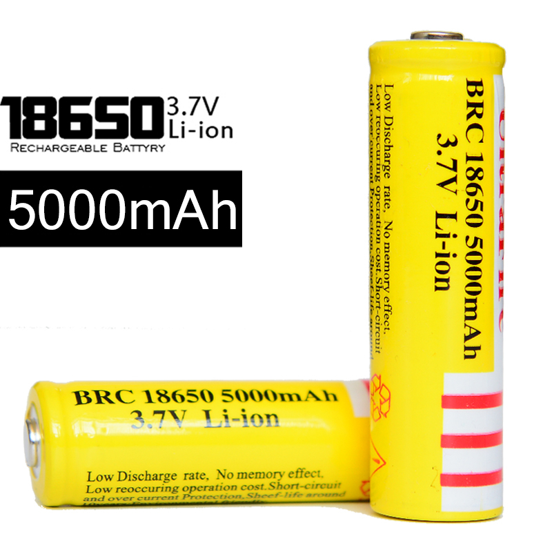 100-new-brand-4pcs-lot-brc18650-5000mah-battery-yellow-18650-37v-li-ion-rechargeable-lion-baterie-for-led-torch
