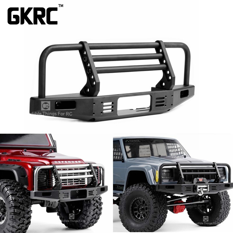 Universal Metal Front Anti collision Bumper For 1/10 RC Crawler Car Traxxas TRX4 Defender Bronco Axial Scx10 90046 90047