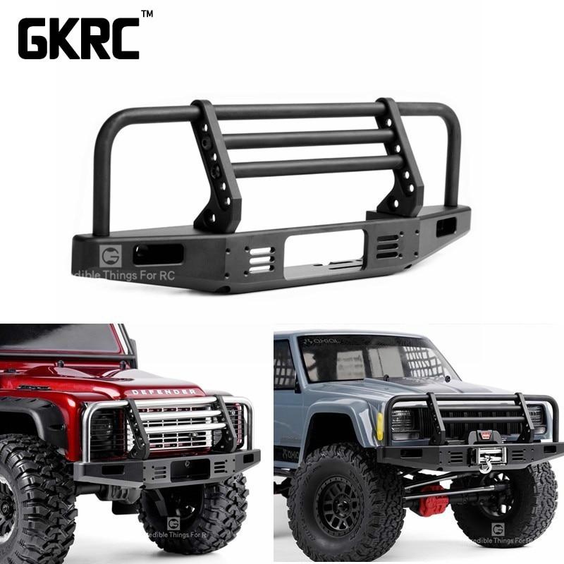 Universale In Metallo Anteriore Anti-collisione Paraurti Per 1/10 RC Crawler Auto Traxxas TRX4 Defender Bronco Assiale Scx10 90046 90047