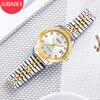 OUBAOER Brand Luxury Women Gold Quartz Watch Fashion Diamond Dial Ladies Watches Stainless Steel Band Dress