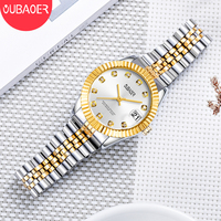 OUBAOER Brand Luxury Women Gold Quartz Watch Fashion Diamond Dial Ladies Watches Stainless Steel Band Dress