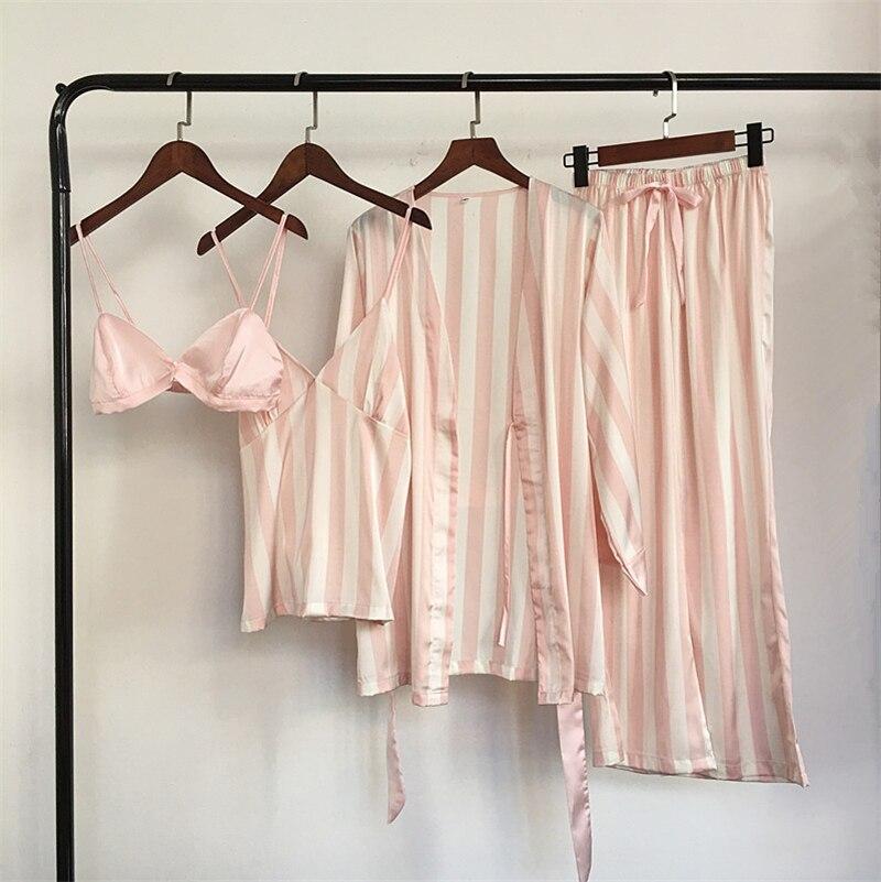 Fashion Women Pajamas Pyjamas Pijamas Plus Size Nightgown Silk Satin Night Gown Sexy Lace Sleepwear Nightdress N0016