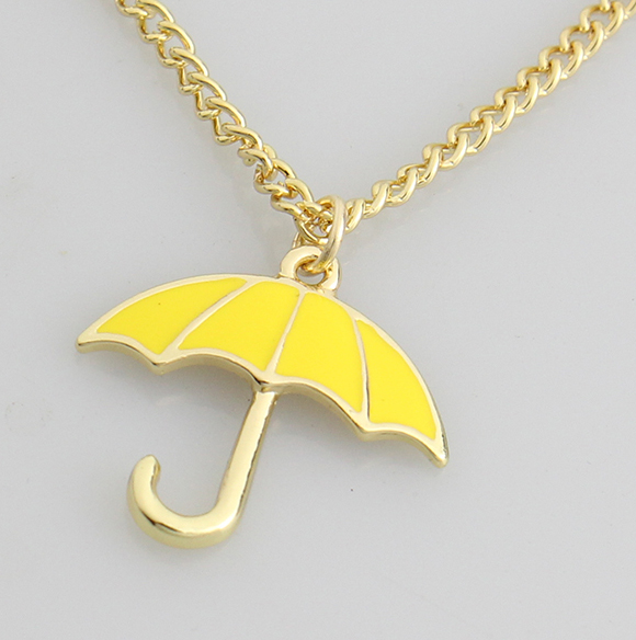 2016 New How I Met Your Mother Yellow Umbrella Necklace Pendant TV Series Party Cosplay Necklace