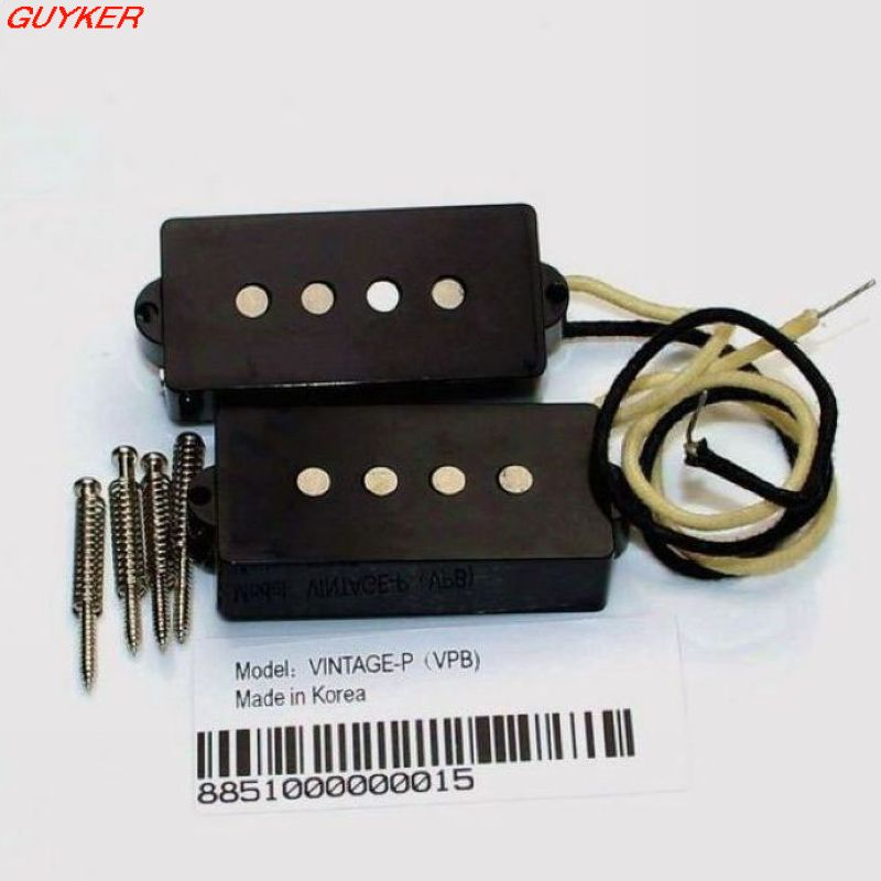 VINTAGE SPLIT PICKUP FOR P BASS Guitar Pickup BLACK