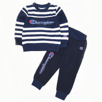 Children's Knitted Suit Sports Set, Boys and Girls Casual Set Knit Long Sleeve Clothes Sports Two Piece Set