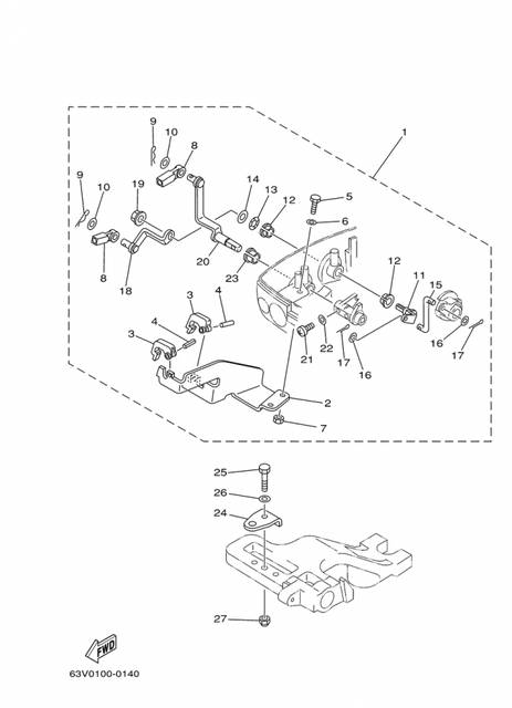 Yamaha 703 Controller Wiring Harnes
