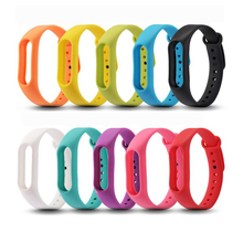 200pcs Solid Color Miband2 Wrist Strap Soft Silicone Bracelet Replacement Wristband for Xiaomi Mi Band 2 wholesale DHL