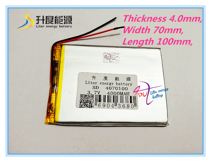 The tablet battery <font><b>4070100</b></font> 3.7V 4000MAH battery panels VX545HD dedicated high-capacity battery VI30W Edition image