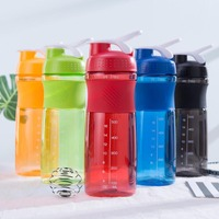 701-800 ml protein Shaker Blender botella de leche botella de agua BPA libre fitness gym Bicicletas deportes al aire libre café botella