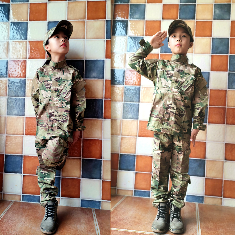 Military Tactical Uniform Combat Army Clothes Child Camouflage Special Forces Soldier Training Militar Wear Clothing Pants