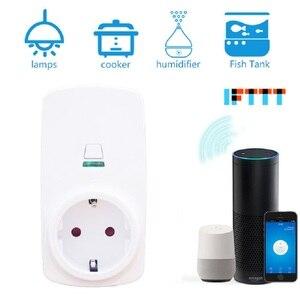 Image 2 - Tonbux AU/FR/EU/UK Plug Smart Wifi Plug LED Light Display Google Home Accept Alexa Control Assistant Smart Power Socket