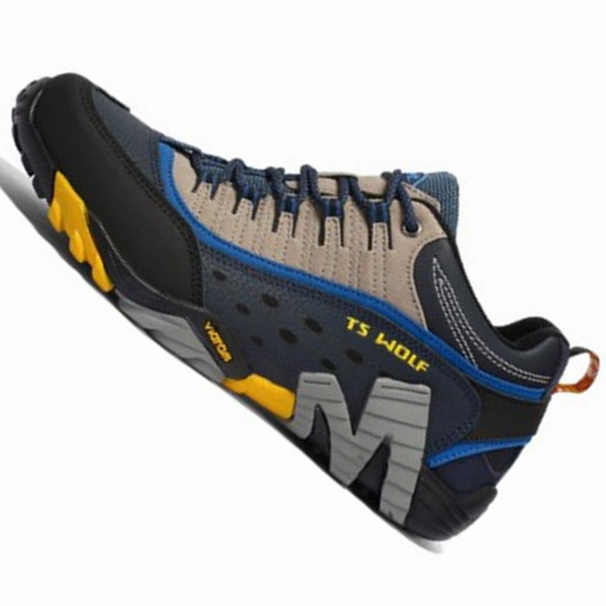 Men Outdoor Sport Running Shoes Men Brand Breathable Genuine Leather Trail Running Shoes Men Designer Running Shoes Sneakers 372