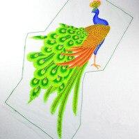 1 stks sequin pauw borduurwerk grote applique patch afrikaanse kant naaien jurk doek versieren accessoire diy