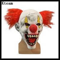 2017 neue Scary Clown Maske Vollgesichts Cosplay Horror Maskerade Erwachsenen Geist Narr Maske Halloween Requisiten Kostüm-abendkleid-partei