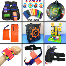 HongChi Tactical Equipment Gun Bulletvest til Nerf Gun Accessories Bullet Clip Kompatibel Tactical Backpack Ammo Pack mål