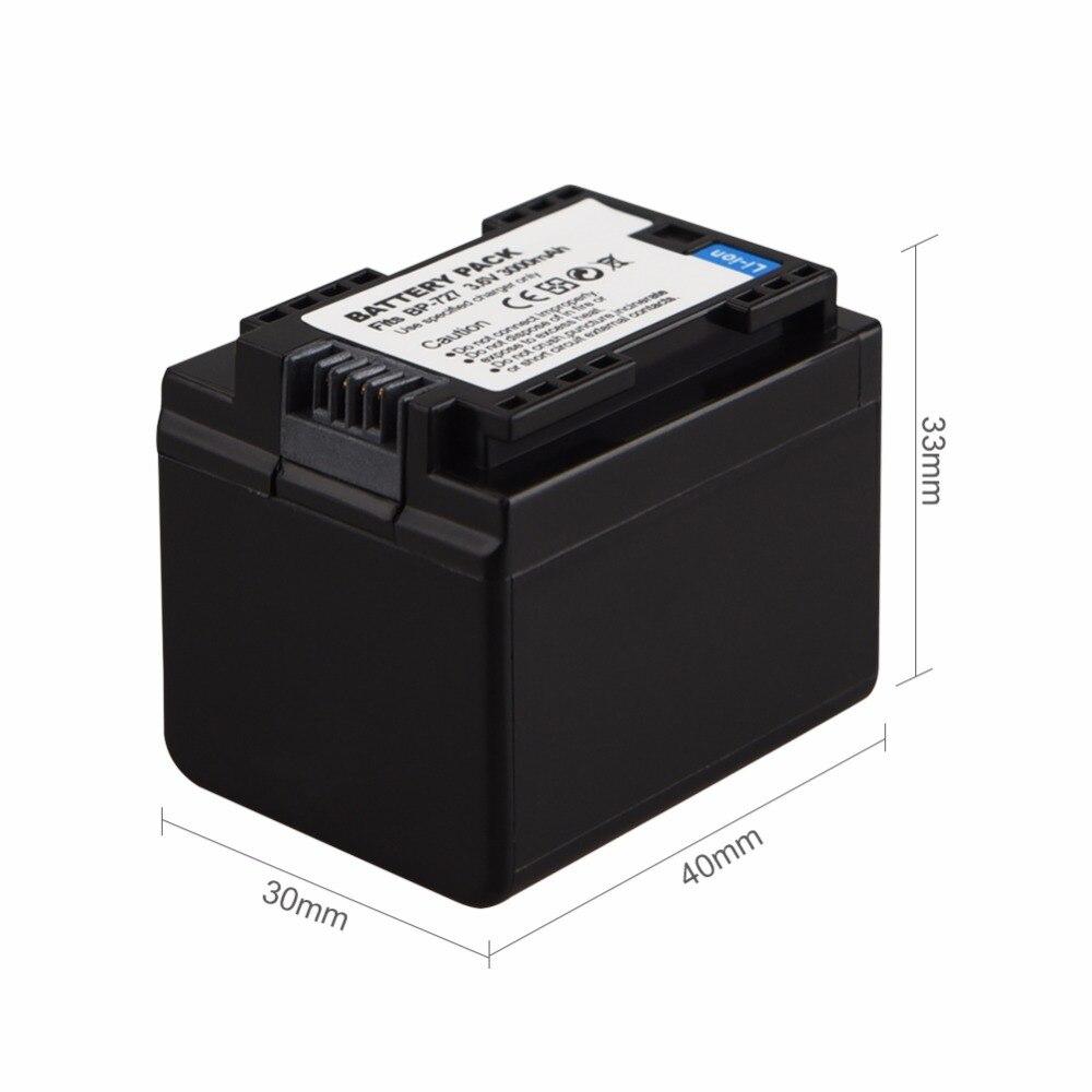 BP-727 батарея для Canon фотокамера VIXIA HF R30 M50 M52 500 M56 M506 R30032 R36 R38 R306 R400 R500 R600 R60 R62 3,6 V 3000mAh BP 727 BP727