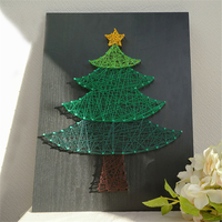 Christmas tree wall art string art home decoration accessories creative gift handmade DIY kit diamond painting for kids mothers