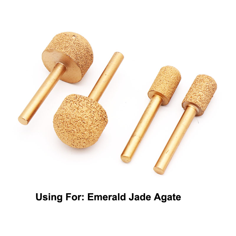 Image 2 - 1 Pcs 46#/100# 12 25mm Vaccum Brazed Diamond Burrs Rotary Tool For Marble Jade Agate Emeradle Grinding Head Grinding Bits-in Abrasive Tools from Tools