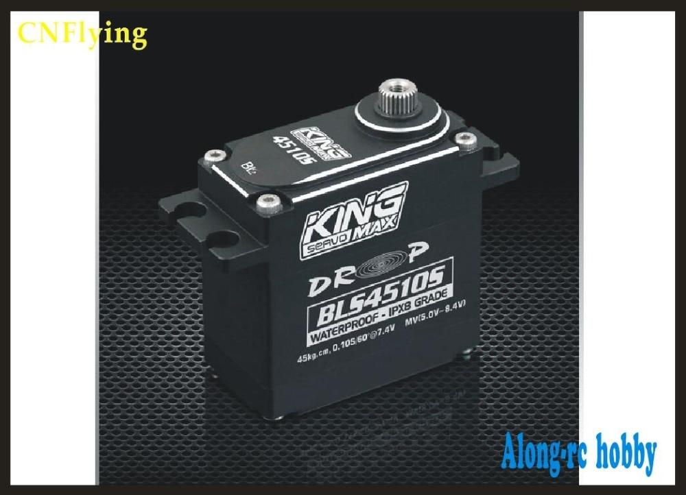 FREE SHIPPING - bruhless motor servo kingmax BLS4510S--92g 45kg,digital servo steel gears waterproof servo metal gears цена