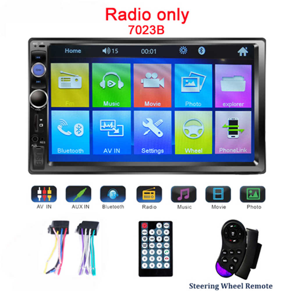"Podofo Universal 2 din coche reproductor Multimedia Autoradio 2din Car Stereo 7 ""Pantalla táctil Video MP5 jugador Auto Radio Rearvi Cámara"