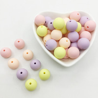 Candy Silicone Beads Rainbow Baby Teething Beads Safe Food Grade Teething 10mm/12mm/15MM Round Silicone Beads 100pcs/lot