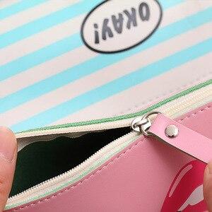 Image 4 - 20 adet Kawaii kalem kutusu Modern kız PU hediye Estuches okul kalem kutusu kalem kutusu kalem çantası okul malzemeleri kırtasiye