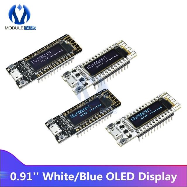 Internet van Ding CP2014 ESP8266 0.91 inch OLED 32 Mb Flash WIFI Module PCB Board voor Arduino NodeMcu IOT Development board