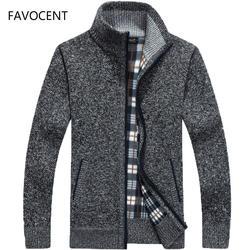2019 осень-зима Для мужчин's свитер искусственный мех шерстяной свитер куртки Для мужчин молния трикотажные толстые пальто теплое