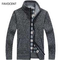 2019 Autumn Winter Men's SweaterCoat Faux Fur Wool Sweater Jackets Men Zipper Knitted Thick Coat Warm Casual Knitwear M-3XL