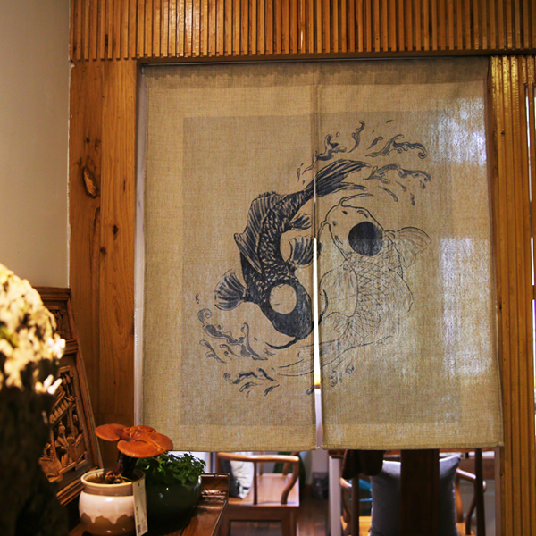 Japanese Style Koi Fish Door Curtains 2