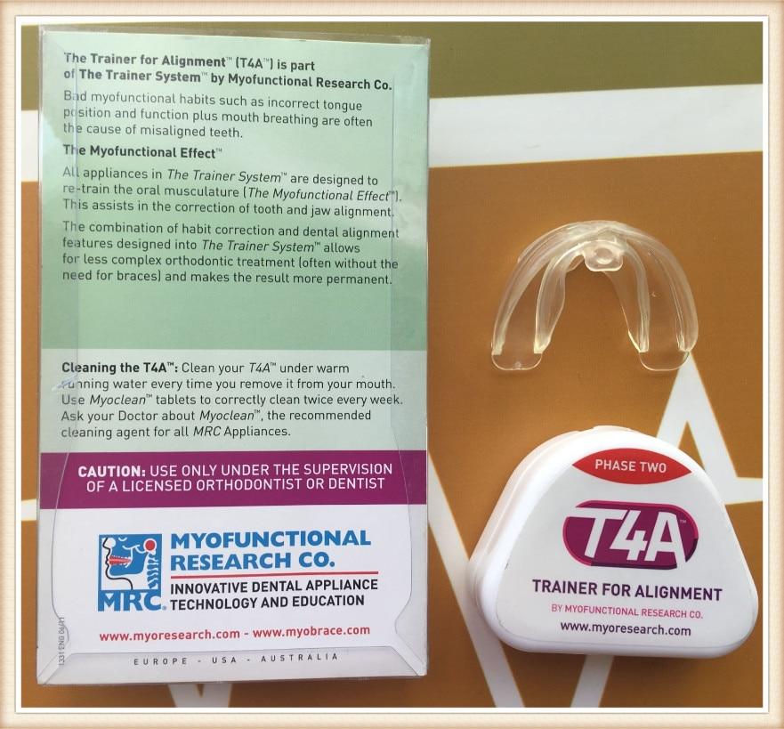 Купить с кэшбэком MRC Dental Teeth trainer T4A Phase 2/Myobrace T4A Trainer Alignment/MRC Orthodontic Trainer T4A Red