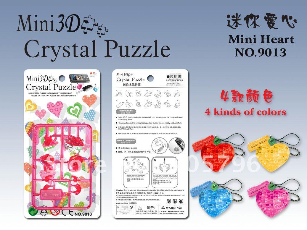 DIY игрушка мини 3D Кристалл Головоломка(сердце) развивающая игрушка