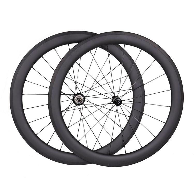 700C rim brake Carbon 56mm Road Bike Racing Bicycle//TT Tubular Wheelset decals
