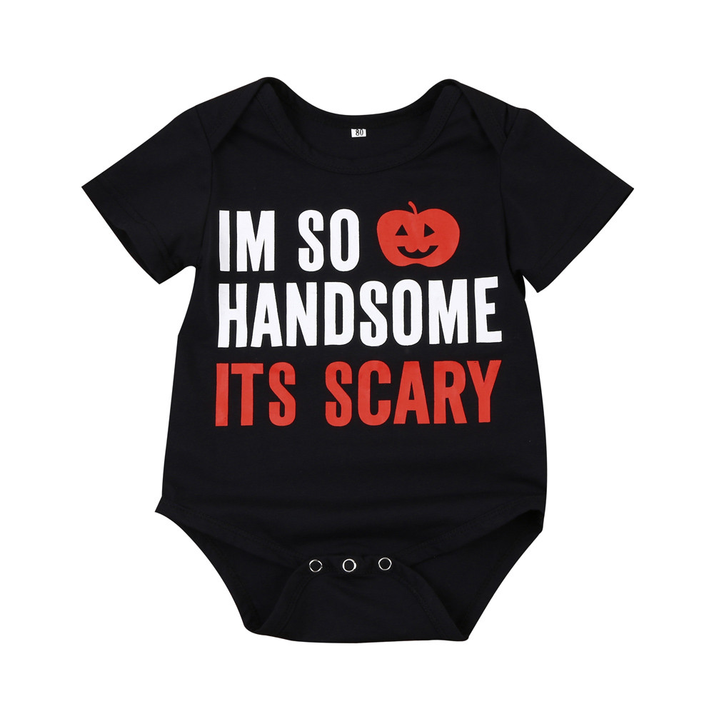 Kids things Baby Clothing Overalls for newborns children Halloween Pumpkin Short Sleeve Romper Childrens pajamas Christmas