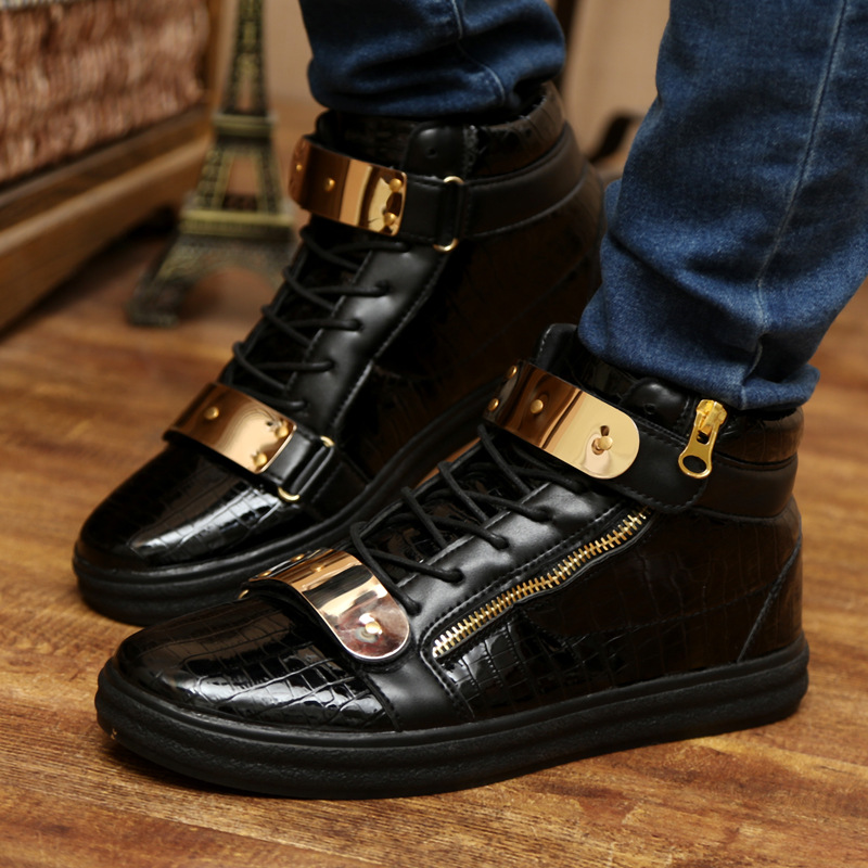 2016 New Special Offer Men s Pu Rubber Spring Brand Autumn Plus Boots Comfortable Casual Flats