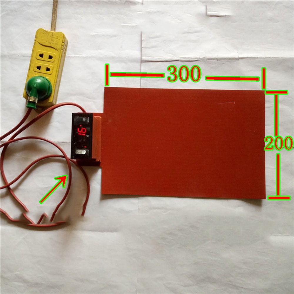 200*300mm 220V 300W 1.8MM temperature control FPB split screen treasure mobile flexible panel heating plate Silicone Heater 200 300mm 220v 300w for computer aided equipment control box moisture and dehumidification aluminium plate silicone heater