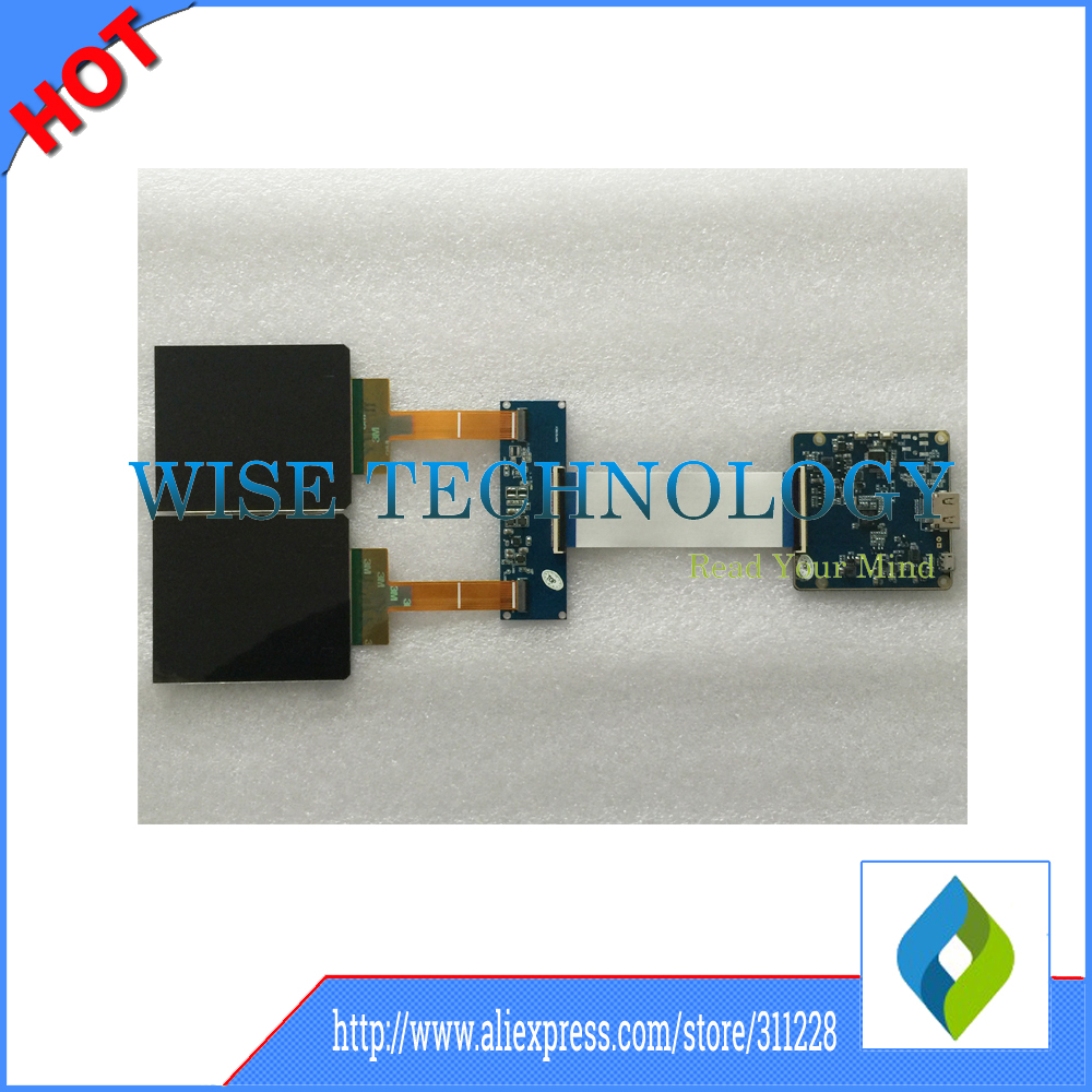 3.8 OLED VR LCD Screen With Refresh Rate 90Hz low-persistence HDMI to MIPI Driver Board For Virtual Reality Prototypes 5sets