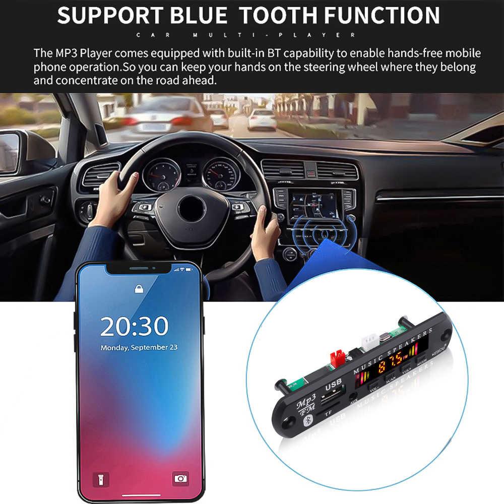 カーオーディオの Usb TF FM ラジオモジュールワイヤレス Bluetooth 5.0 5V 12V MP3 Wma デコーダボードカラー画面 MP3 プレーヤーリモコン