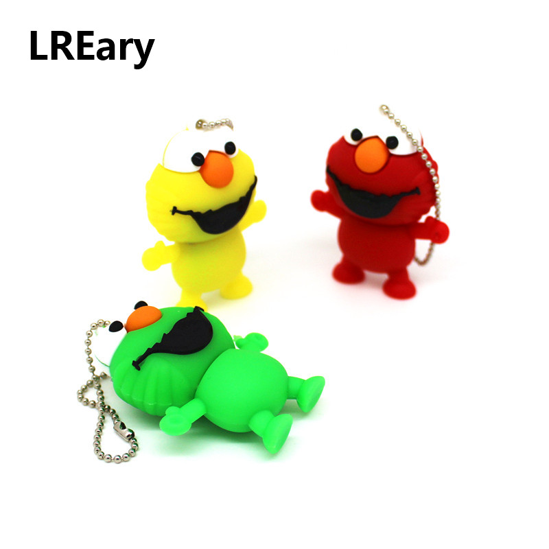Usb Flash Drives External Storage Strong-Willed Cute Frog Usb Flash Drive With Keychain Pen Drive Memory U Stick Pendrive Gift 32gb/16gb/8gb/4gb/128mb Fine Craftsmanship