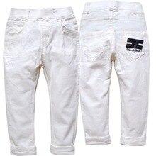4121 ילדים לבן מכנסיים בני מכנסיים אביב סתיו ילדים בגדים מאוד נחמד אופנה אלסטי מותניים חדשgirls trousersboys fashion pantsboys pants