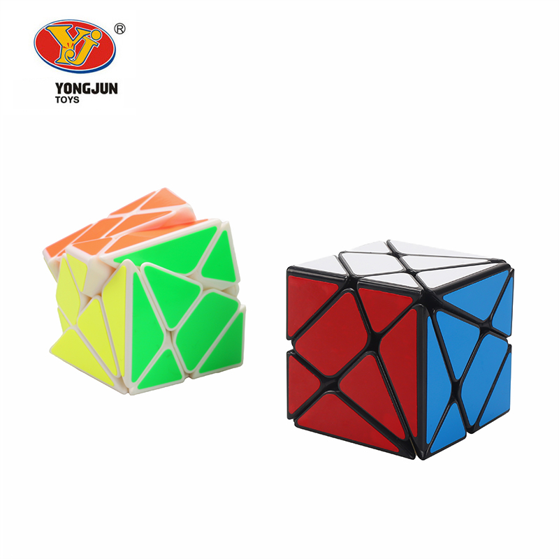 YongJun YJ Axis Magic Cube Change Irregularly Jinggang Speed Cube With Frosted Sticker YJ 3x3x3 Black Body Cube New