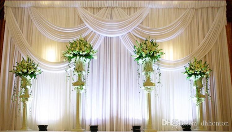 3*6m Wedding Party Stage Celebration Background Satin